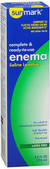 Sunmark Complete & Ready-to-Use Enema Saline Laxative - 4.5 OUNCE