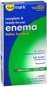 Sunmark Complete & Ready-to-use Enema Saline Laxative Twin Pack - 2 EACH