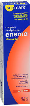 Sunmark Complete Ready-to-Use Enema Mineral Oil - 4.5 OUNCE