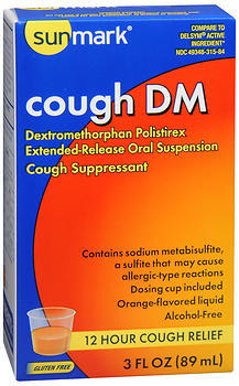 Sunmark Cough DM Liquid Orange Flavor - 3 OUNCE