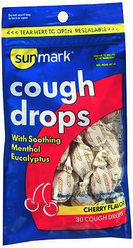 Sunmark Cough Drops Cherry Flavor - 30 EACH