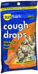 Sunmark Cough Drops Honey Lemon Flavor - 30 EACH