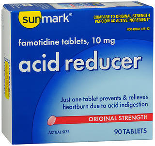 Sunmark Famotidine Acid Reducer Tablets - 90 TAB