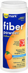 Sunmark Fiber Powder With Psyllium Husk Orange Flavor - 19 OUNCE