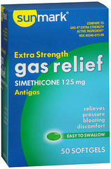Sunmark Gas Relief Softgels Extra Strength - 50 TAB