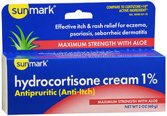 Sunmark Hydrocortisone Cream 1% Maximum Strength With Aloe - 2 OUNCE