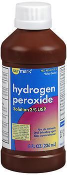 Sunmark Hydrogen Peroxide Solution 3% USP - 12 EACH