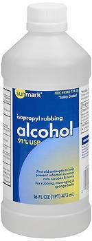 Sunmark Isopropyl Rubbing Alcohol 91% USP - 12 EACH