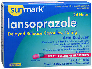 Sunmark Lansoprazole 24 Hour Acid Reducer Capsules - 42 CAP