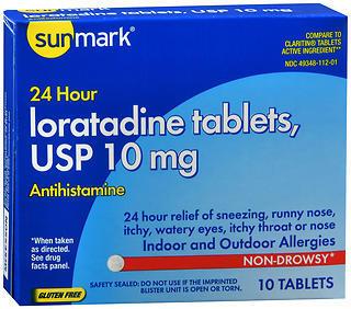 Sunmark Loratidine 10 mg 24 Hour Tablets - 10 TAB