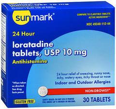 Sunmark Loratidine 10 mg 24 Hour Tablets - 30 TAB