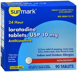 Sunmark Loratidine 10 mg 24 Hour Tablets - 90 TAB