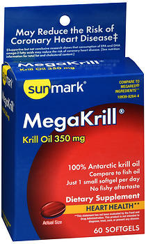 Sunmark MegaKrill Dietary Supplement Softgels - 60 CAP
