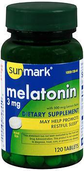 Sunmark Melatonin 3 mg Tablets - 120 TAB