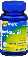 Sunmark Melatonin 5 mg Dietary Supplement Tablets Cherry Flavor - 90 TAB