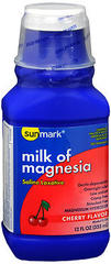 Sunmark Milk of Magnesia Cherry Flavor - 12 OUNCE
