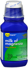 Sunmark Milk of Magnesia Mint Flavor - 12 OUNCE