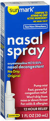 Sunmark Nasal Spray No Drip Original - 1 OUNCE