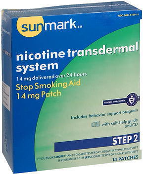 Sunmark Nicotine Transdermal System Step 2 - 14 mg Patches - 14 EACH