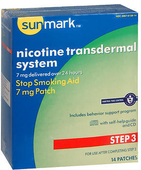 Sunmark Nicotine Transdermal System Step 3 - 7 mg Patches - 14 EACH
