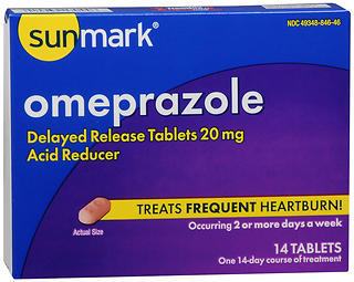 Sunmark Omeprazole Tablets - 14 TAB
