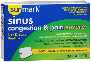 Sunmark Sinus Congestion & Pain Severe Caplets - 24 CAP