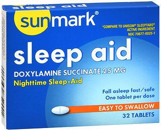 Sunmark Sleep Aid 25 mg Tablets - 32 TAB