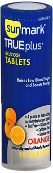 Sunmark TRUEplus Glucose Tablets Orange - 6 EACH