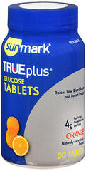 Sunmark TRUEplus Glucose Tablets Orange - 50 TAB