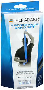 Thera-Band 3 Resistance Band Set Advanced - 1 EACH