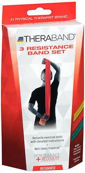 Thera-Band 3 Resistance Band Set Beginner - 1 EACH