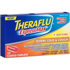 Theraflu ExpressMax Daytime Severe Cold & Cough Coated Caplets - 20 CAP