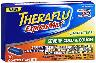 Theraflu ExpressMax Nighttime Severe Cold & Cough Coated Caplets - 20 CAP