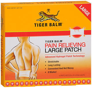 Tiger Balm Pain Relieving Patch Large - 4 EACH