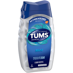TUMS Antacid Regular Strength 500 Chewable Tablets Mint - 150 EACH