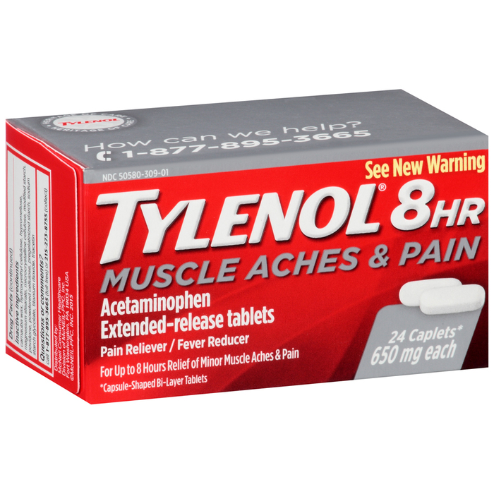 TYLENOL 8HR Muscle Aches & Pain Caplets - 24 TAB