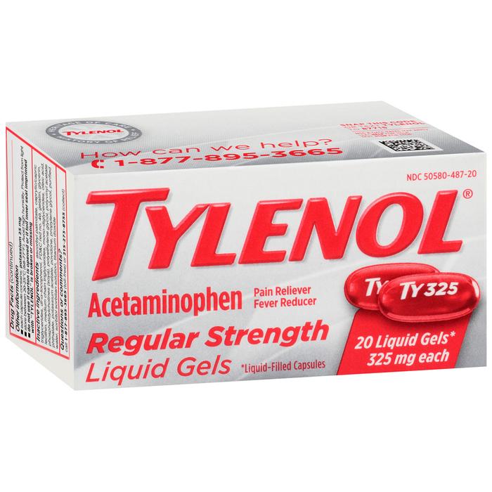 TYLENOL Acetaminophen Regular Strength Liquid Gels - 20 CAP