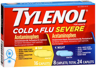 TYLENOL Cold + Flu Severe Day & Night Caplets - 24 TAB