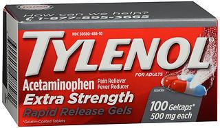 TYLENOL Extra Strength Rapid Release Gelcaps - 100 CAP