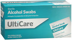 UltiCare Sterile Alcohol Swabs - 100 EACH