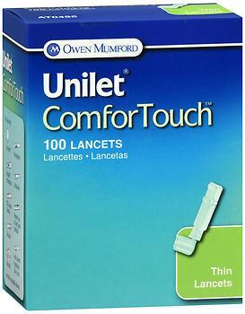 Unilet ComforTouch Lancets Thin 23G - 100 EACH