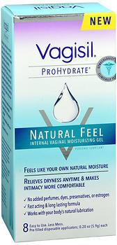 Vagisil ProHydrate Natural Feel Internal Vaginal Moisturizing Gel - 8 EACH