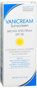 Vanicream Sunscreen SPF 30 - 4 OUNCE