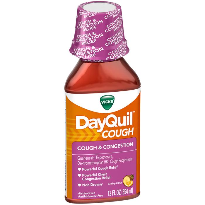 Vicks DayQuil Mucus Control Liquid Citrus Blend Flavor - 12 OUNCE