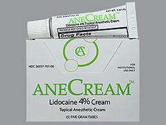 ANECREAM 4% TUBE KIT 5X5GM - 0.833 OUNCE
