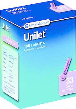 LANCET UNILET 33G OWN 100 - 100 EACH