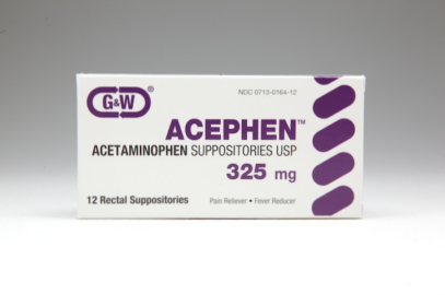 ACEPHEN SUPP 325MG G/W 100@ - 100 UNIT