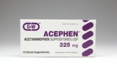 ACEPHEN SUPP 325MG G/W 100@ - 100 UNIT