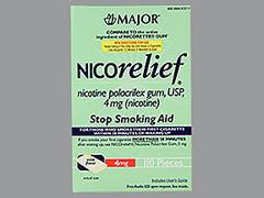 NICORELIEF GUM 4MG MNT MMP 110 - 110 EACH
