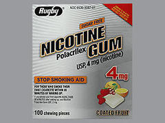 NICOTINE GUM 4MG CF RE MMP 1C@ - 100 EACH